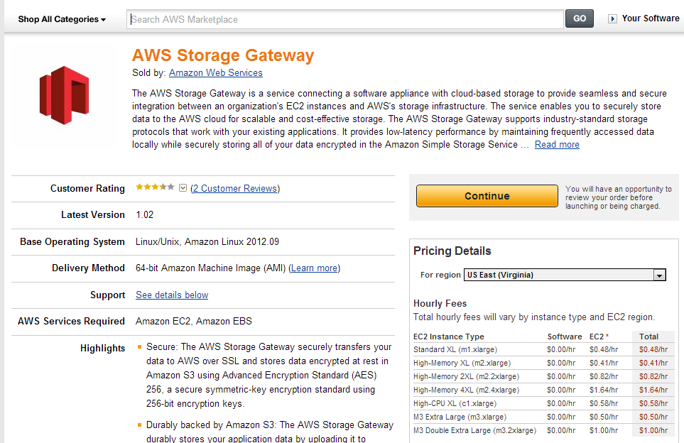Storage Gateway Continue