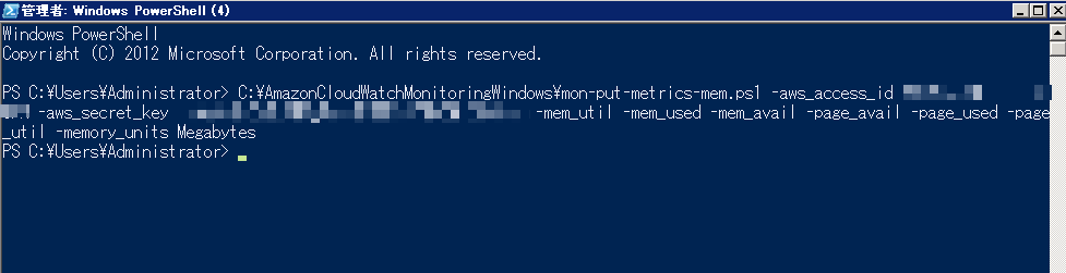 Power Shell 画面